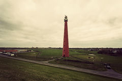 Lange Jaap Lighthouse. (Kijkduin Light). Huisduinen, Netherlands Royalty Free Stock Image