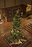 Lange Kerstboom Stock Afbeelding