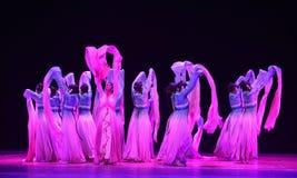 "Lange kokerdans gevulde garen-dans drama""Mei Lanfang† Stock Afbeelding"