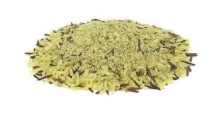 Lange korrel wilde rijst met kruiden Stock Foto