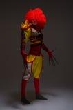 Lange kwade clown Stock Afbeeldingen