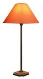 Lange Lamp met Oranje Schaduw Stock Afbeelding