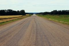 Lange landweg aan nergens Stock Fotografie