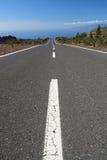 Lange leere Straße stockbilder