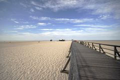 Lange manier aan het strand Royalty-vrije Stock Foto's