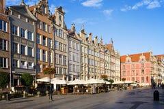 Lange Markt in Gdansk Stock Fotografie
