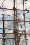 Lange masten Stock Afbeelding