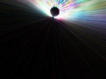 Lange meer linier deeltjesemissies Royalty-vrije Illustratie