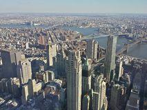 Lange Mening van Freedom Tower Stock Foto's