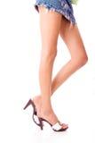 Lange mooie benen Stock Afbeelding