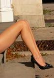 Lange mooie benen. Royalty-vrije Stock Afbeelding
