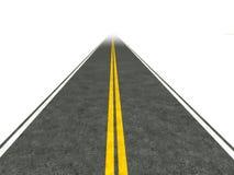 Lange, rechte wegillustratie. Royalty-vrije Stock Afbeelding