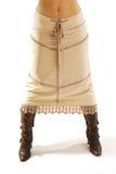Lange rok en laars Stock Afbeeldingen