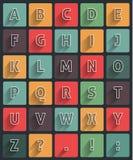 Lange schaduw alfabet Stock Afbeelding