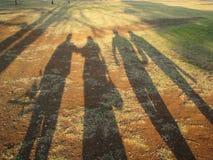 Lange Schatten Stockbild