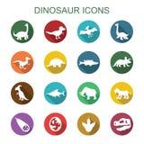 Lange Schattenikonen des Dinosauriers Stockfoto