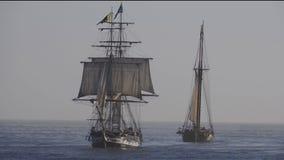 Lange schepen stock footage