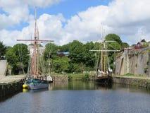 Lange schepen Stock Fotografie