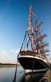 Lange schepen in haven Royalty-vrije Stock Fotografie