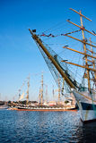 Lange schepen STS MIR en Krusenstern Royalty-vrije Stock Foto