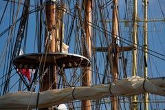 Lange schepenmasten Stock Fotografie