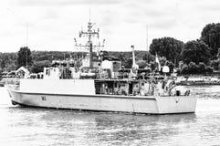 Lange schipparade op de Rivierzegen van Rouen tijdens ARMADA stock fotografie