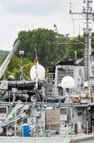 Lange schipparade op de Rivierzegen van Rouen tijdens ARMADA royalty-vrije stock fotografie