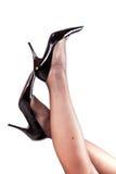Lange sexy benen Royalty-vrije Stock Afbeeldingen