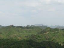 Lange Sicht der Chinesischen Mauer Lizenzfreie Stockbilder
