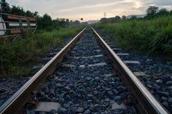 Lange spoorweg Royalty-vrije Stock Foto