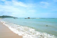 Lange staart Thaise die vissersboten in Koh Samui worden vastgelegd Royalty-vrije Stock Foto