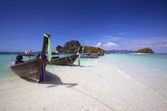Lange staartboot in Thailand Royalty-vrije Stock Foto's
