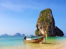 Lange staartboot in Thailand Stock Afbeelding