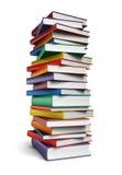 Lange stapel boeken Royalty-vrije Stock Afbeelding