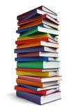 Lange stapel boeken Stock Foto's