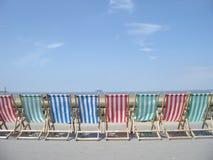 Lange stoel Stock Foto's