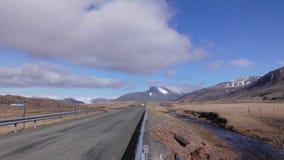 Lange Straße und Mountain View lizenzfreie stockbilder