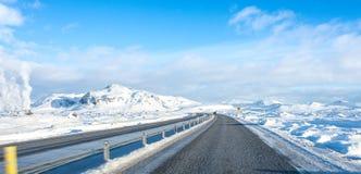 Lange Straßenreise Island Lizenzfreies Stockfoto