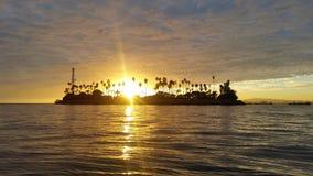 Lange strandzonsopgang Royalty-vrije Stock Afbeelding