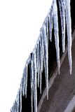 Lange transparente Eiszapfen Lizenzfreies Stockbild