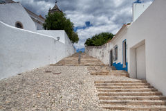 Lange Treppe zur Kirche von Santa Maria tut Castelo Lizenzfreies Stockfoto
