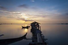 Lange visserijpijler Royalty-vrije Stock Foto