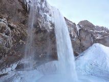 Lange waterval, IJsland Stock Foto