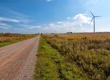 Lange Weg aan Duurzame Energie Stock Afbeeldingen