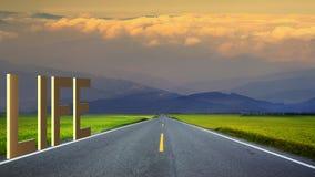 lange weg in bergen, panoramisch beeld, Taiwan Stock Afbeeldingen