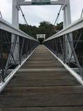 Lange weiße Brücke Lizenzfreies Stockbild