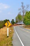 Lange Windende Landweg Royalty-vrije Stock Foto's