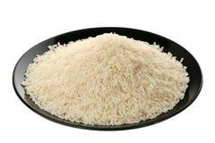 Lange witte rijst op plaat Royalty-vrije Stock Afbeeldingen