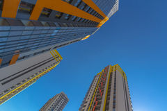 Lange woonhuizen Stock Foto's