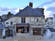 Langeais, stad, west-central Frankrijk, Indre-et-Loiredã©partement, Centrumrã©gion, op de rechteroever van de Loire-Rivier royalty-vrije stock fotografie